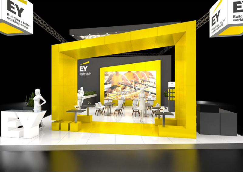 Messestand Ansicht frontal